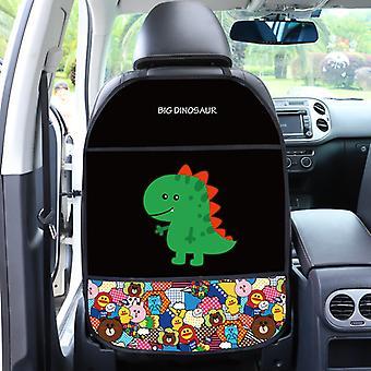 Autostol bagcover beskytter til børn tegneseriebil anti kick mat med taske vandtæt autostol rygbeskytter anti kick pad