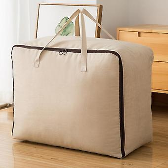 Quilt Blanket Storage Bags Fabric Box Under Bed Organizer With Handle|Foldable Storage Bags