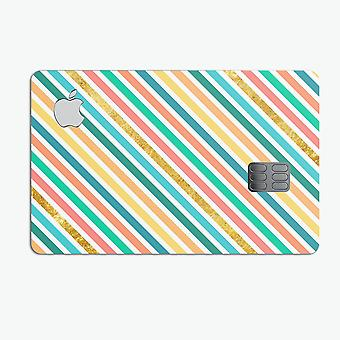 Tropical Summer Gold Striped V1 - Premium Protective Decal Skin Kit