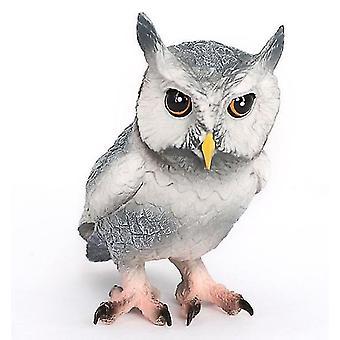 Real Heart Wild Animal Model Eagle Owl Birds Children's Toy Set Birthday Gift(GROUP1)
