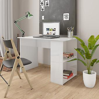 vidaXL Desk High Gloss White 110×60×73 cm Truciolato