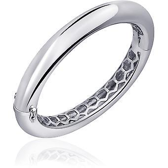 Gisser Jewels - Armband - Bangle Round Polerad - 10mm Bred - Storlek 68 - Gerhodineerd Zilver 925