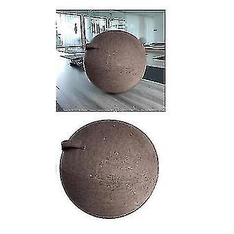 Harmaa joogapallon kansi 65cm pilates istumapallotuoli pölytiivis suoja slipcover (harmaa)