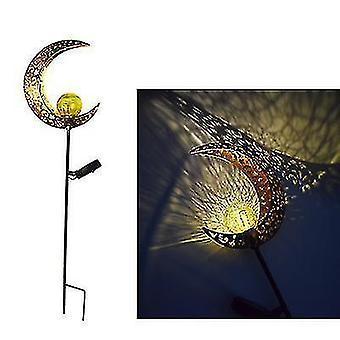 Openlucht Zonnevlamlicht, Retro Hol het Licht van het Landschap van de Binnenplaats, Energy Saving Lamp (Maan)