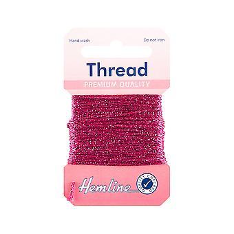 ÚLTIMOS POCOS - 10m Fuchsia Pink Glitter Hilo para artesanías   Cordel cordel &elástico para manualidades