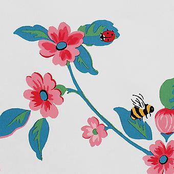 Cath Kidston Greenwich Blommor Tapeter Grädde / Röd 182511