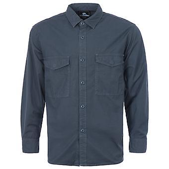 Edwin Big Ripstop Cotton Shirt - French Navy