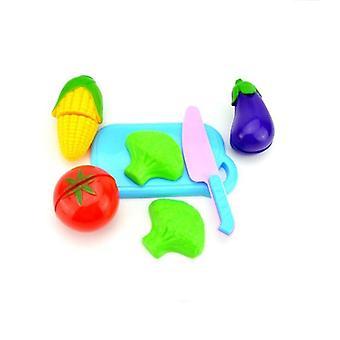 Leikkaa hedelmät vihannekset teeskennellä pelata lasten keittiö