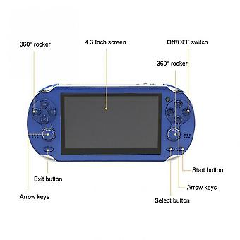 4.3 Inch Handheld Game Console Player Built-in 300 Games For Kids Adults