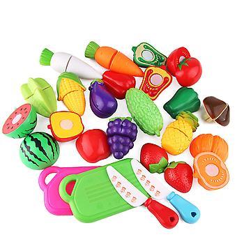 قطع اللعب قطع الفواكه والخضروات تعيين التظاهر الغذاء Playset الهدايا لعيد الميلاد