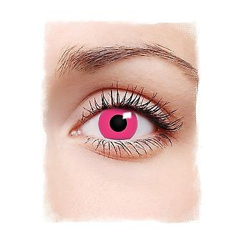 Special effect contact lenses  Pink daily lenses