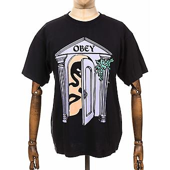 Obey Clothing Mausoleum Heavyweight Classic Box Tee - Off Black