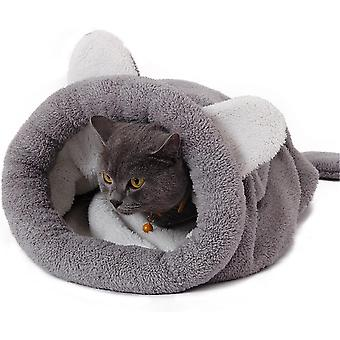 Four Seasons General Semi-enclosed Sleeping Bag For Pets And Dogs (gray)