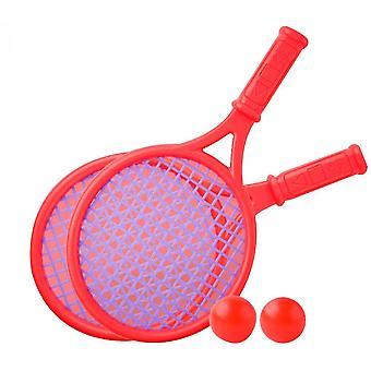 Outdoor interactieve strand speelgoed tennis racket set (rood)