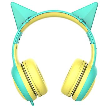 Kid's Headphone With Microphone For School(Green)