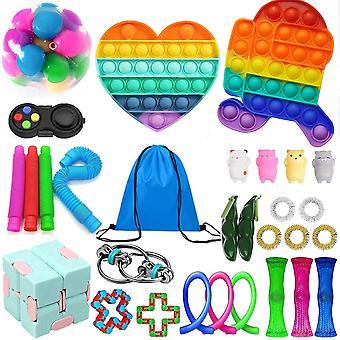 Fidget Toys Pack, Fidget Toy Sets Fidget Pack Cheap, Simple Dimple Fidget, Push Bubble Fidget Sensory Toy For Kids Adults And Fidget Toy Kill Time