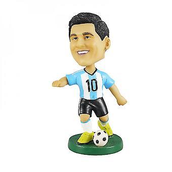 Venalisa Lionel Messi Figurine d'action Statue Bobblehead Footballl Poupée Décoration