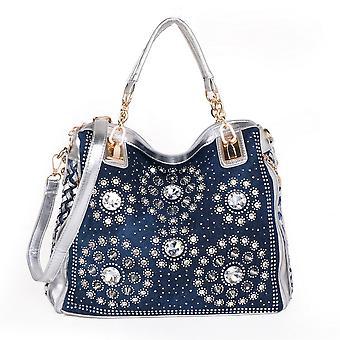 & s Denim Top-handle Handväska för kvinnor