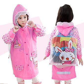 3-10 Jahre Alte Kinder Kapuzen Poncho Cartoon Regenmantel mit Schultasche Jungen und Mädchen