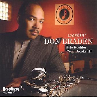 Don Braden - Workin' [CD] USA import