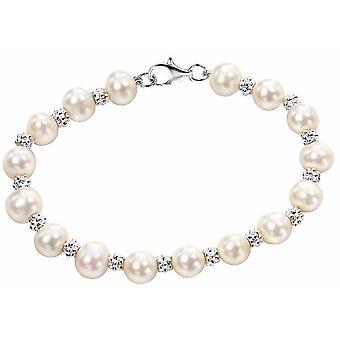 Braccialetto di perle d'acqua dolce in argento 925
