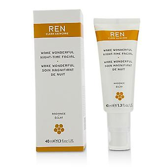 Ren Wake underbar natt-tid Facial-40ml/1.3 oz
