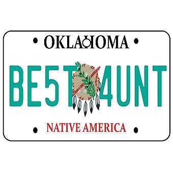 Oklahoma - beste tante License Plate auto luchtverfrisser