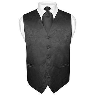 Miesten Paisley Design mekko liivi & kravatti kaula solmio asetettu puku Tux