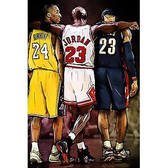 Jordan Kobe Lebron Poster Print