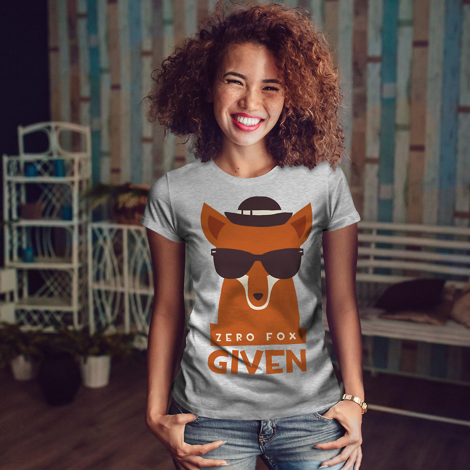 Zéro Fox compte tenu du GreyT-chemise femme urbaine | Wellcoda