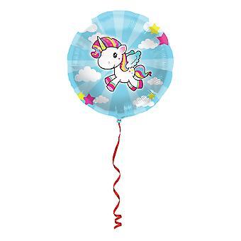 Unicórnio folha balão 45cm balão unicórnio unicórnio festa decoração do partido