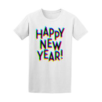 Bright 3d Effect Happy New Year Tee Men's -Image by Shutterstock