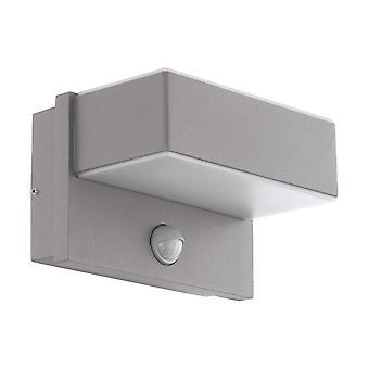 Eglo Al LED Wall Light / 2 M.Sensor Silber / Ws Azzinano