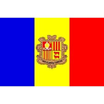 Andorran Flag 5ft x 3ft With Eyelets For Hanging