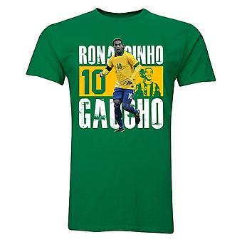 Ronaldinho Nummer 10 Spieler T-Shirt (gelb)