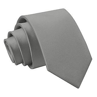Cravatta in raso di platino pianura regolare per i ragazzi