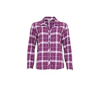 Cyberjammies 3831 Women's Fiona Magenta paarse Check Pajama pyjama's Top