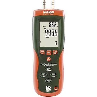 Extech HD350 Pitotbuis Anemometer en Verschildruk Manometer
