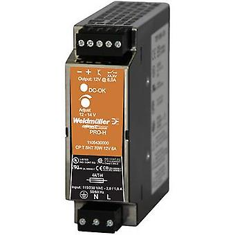 SMPSU Weidmüller CP T SNT 70W 12V 6A 15 V DC 6 A 70 W 1 x