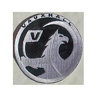 Vauxhall nowe Logo żelaza-/ uszyć u tkanina Patch (Bk/srebrny)