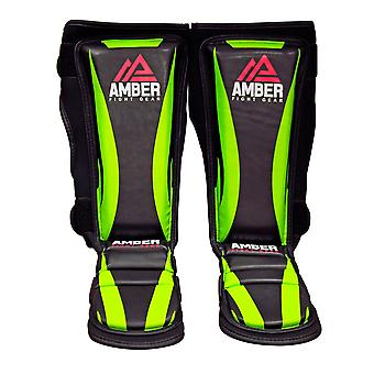 Amber Shin Guard Instep MMA Leg Protective Sports Training Small/Medium