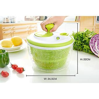 Retractable Pull Salad Spinner | Transparent And Green