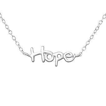 الأمل - 925 الجنيه الاسترليني الفضة عادي قلادات - W18527X