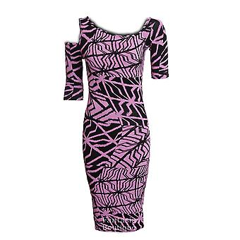 Novo senhoras manga curta recorte cobra aranha grafite imprime Bodycon Dress feminino