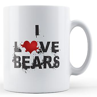 I Love Bears printed mug