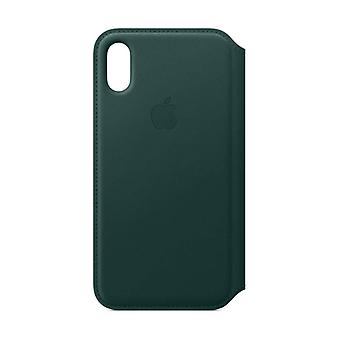 Apple iPhone XS Leather Folio - Forest Green