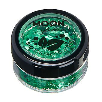 Biodegradable Eco Chunky Glitter by Moon Glitter - 100% Cosmetic Bio Glitter for Face, Body, Nails, Hair and Lips - 3g - Green