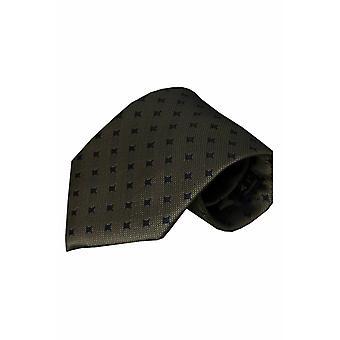 Groene zijden stropdas Laccio 01