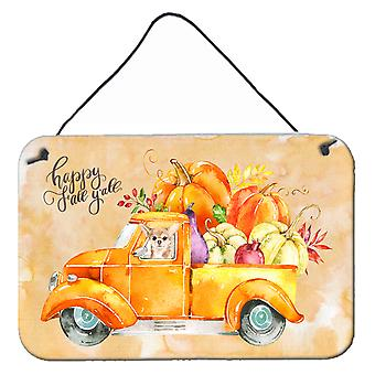 Fall Harvest Chihuahua Wall or Door Hanging Prints