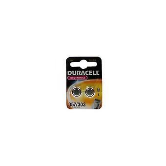 Duracell D357/D303 knap celle batteri sølv